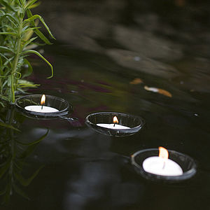 Set Of Three Floating Tealight Holders - lighting