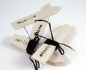 Porcelain Herb Labels