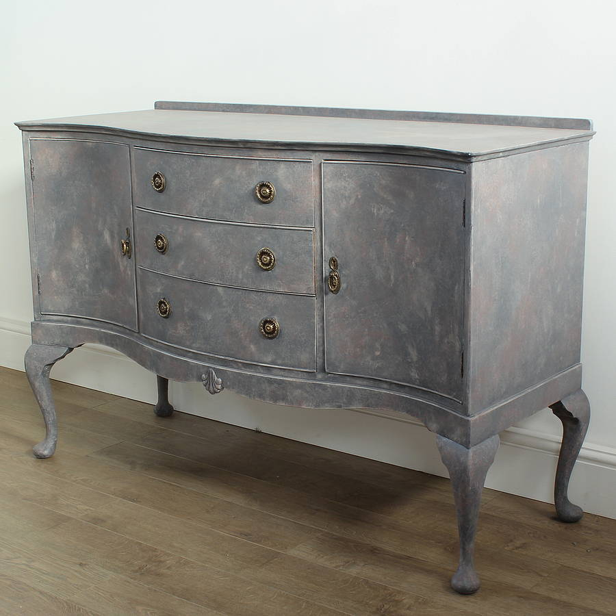 charles handpainted vintage sideboard by ruby rhino. Black Bedroom Furniture Sets. Home Design Ideas