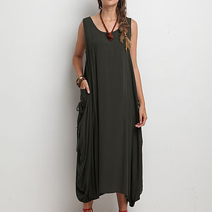 Draped Side Dress