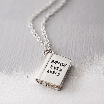 Silver Story Book Necklace