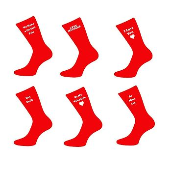 Pair Of Valentine Day Mens Socks