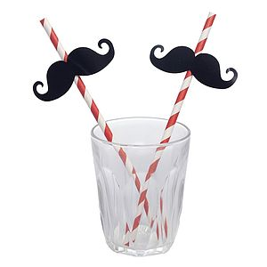 Moustache Party Straws - dining room