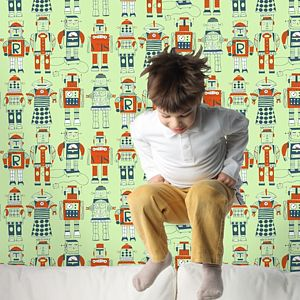 Robot Wallpaper - children's room