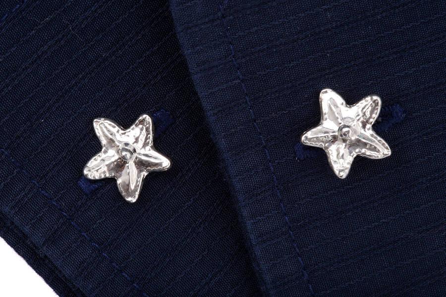Silver Starfish Cufflinks