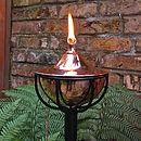 Copper Bowl Oil Burning Garden Torch