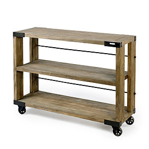 Industrial Trolley Bookcase - office & study