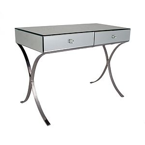 Mirrored Console With Curved Legs - furniture