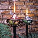 Steel Bowl Oil Burning Garden Torch