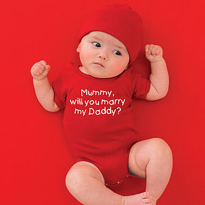 Personalised 'Will You Marry…' Babygrow - clothing
