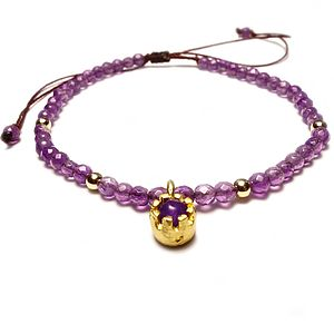 'Have Faith' Amethyst Bracelet
