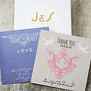 J and S Jewellery gift cards and gift box