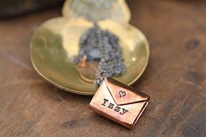 Copper Sealed With A Kiss Necklace - gifts under £100