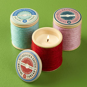 Colourful Spool Scented Candle - candles & candlesticks