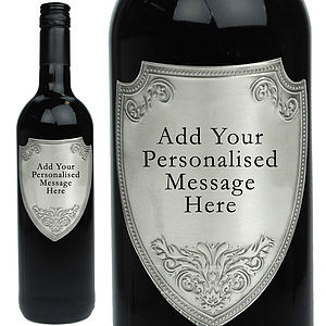 Personalised Shiraz With Pewter Wine Label - wine