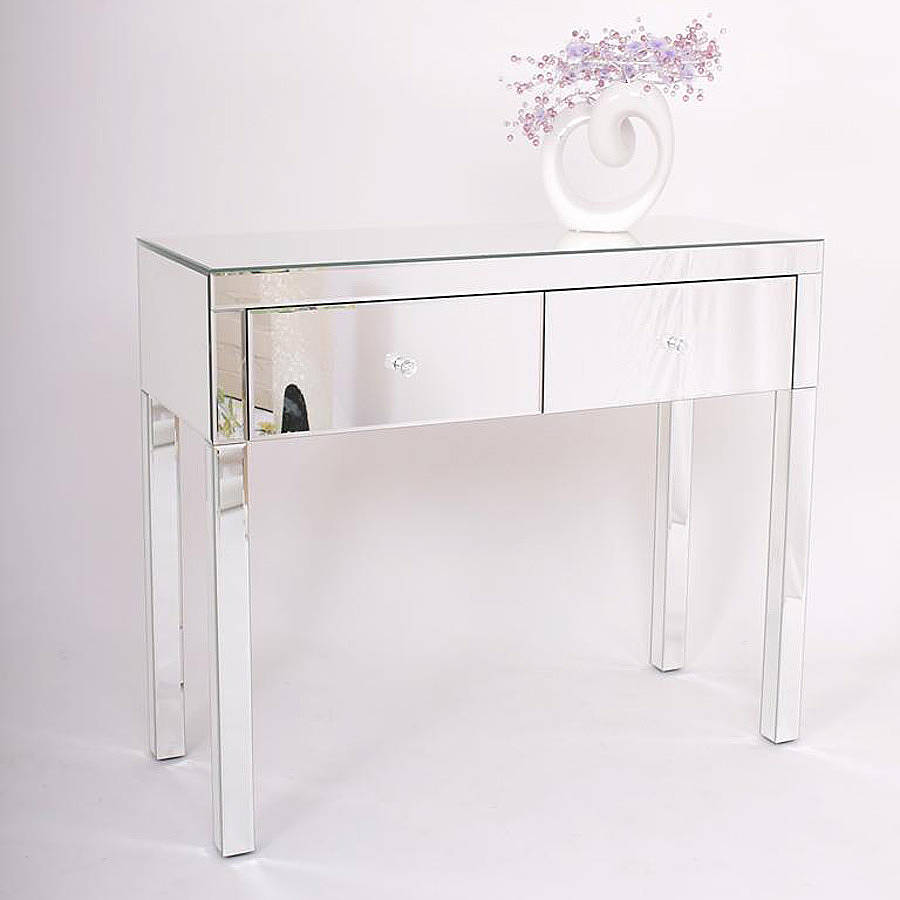 vanity table without mirror. Two Drawer Dressing Table In Mirrored Or Black  dressing tables arabella french table by out there interiors