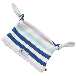 Stripe Double Knot Baby Hat