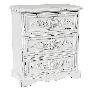 White Wooden Trinket Chest