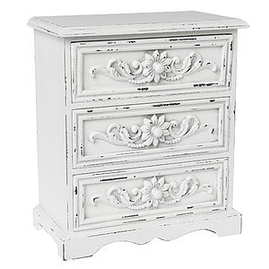 White Wooden Trinket Chest - jewellery & trinket boxes