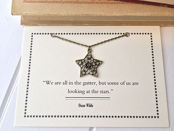 Oscar Wilde Star And Flower Necklace