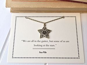 Oscar Wilde Star And Flower Necklace - necklaces & pendants
