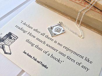 Pride And Prejudice Book Lover Necklace