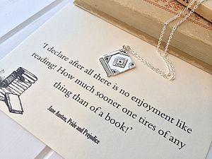 Pride And Prejudice Book Lover Necklace - personalised