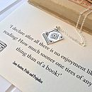 Pride And Prejudice Book Lover Necklace