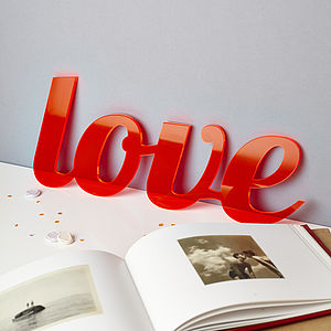 Bespoke Acrylic Valentines Words