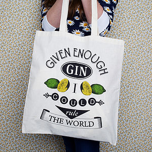 'Given Enough Gin' Tote Bag - shopper bags