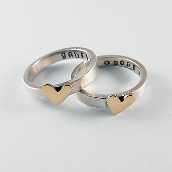 Heart Of Gold Personalised Ring