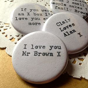 Personalised Typewriter Badge - pins & brooches
