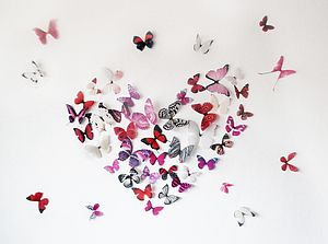 3 D Butterfly Heart Display - less ordinary wall art