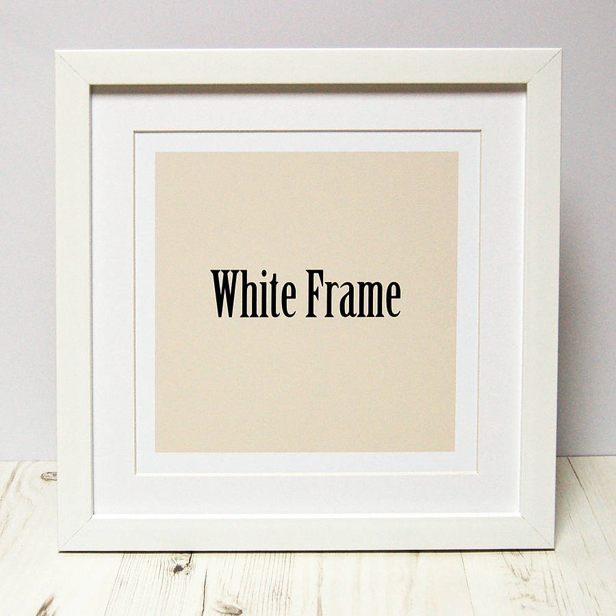 frames to fit spotty n stripy prints - White Square Frames