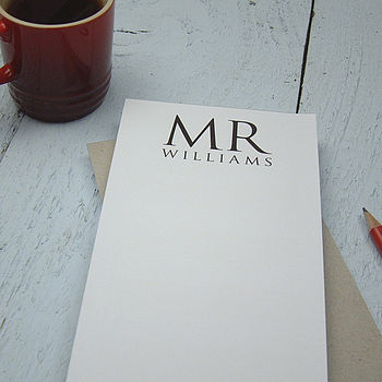 Personalised Notepad For Valentine's