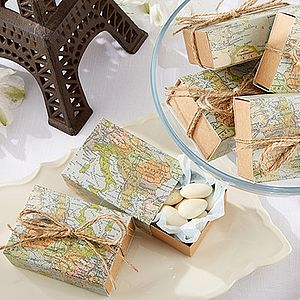 Map Favour Boxes