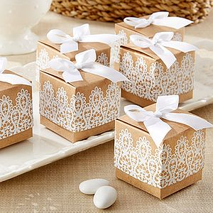 Lace Inspired Favour Boxes