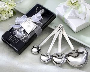 Heart Shaped Measuring Spoons In Gift Box - kitchen