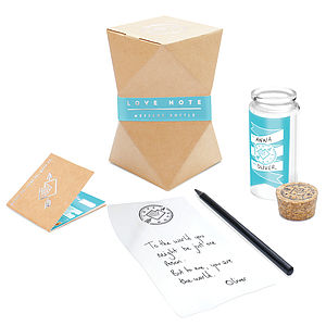 Message In A Bottle Love Note - gifts for her