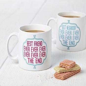 Personalised 'Best Ever' Typography Design Mug