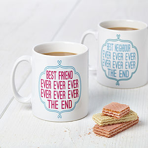 Personalised 'Best Ever' Typography Design Mug - mugs