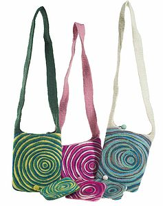 Handmade Felt Whirlpool Bag - baby & child