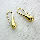 Gold Vermeil Raindrop Earrings