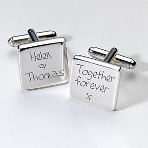 Personalised Together Forever Cufflinks - cufflinks