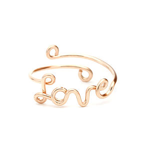 Rose Gold Filled Love Ring - rings