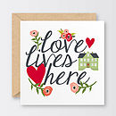 'Love Lives Here' Valentine's Card