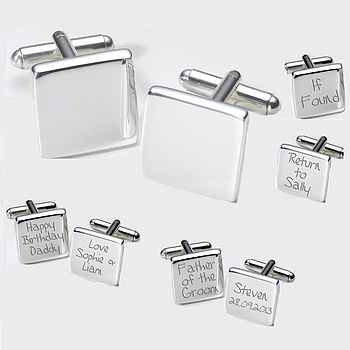 Bespoke Personalised Cufflinks