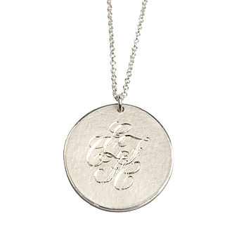 Personalised Silver Medal Necklace