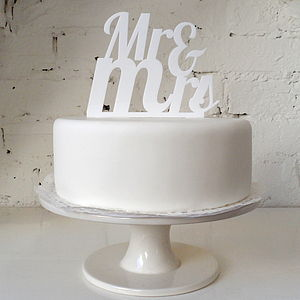 'Mr And Mrs' Cake Topper - weddings sale