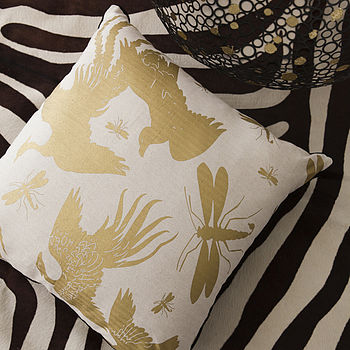 Wings Gold Cushion